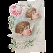 SALE PENDING Easter Card Pre 1900 Die Cut Klein Brundage Illustrators