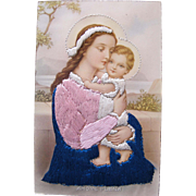 SOLD Religious Post Card Madonna / Blessed Mary / Baby Christ Spain