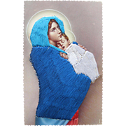 SALE Religious Post Card Madonna / Blessed Mary / Baby Christ Spain