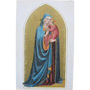 SALE Religious Post Card of Blessed Mother Mary  Madonna and Baby Jesus