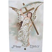 SALE Angel Post Card for Easter 1909 Germany Embossed