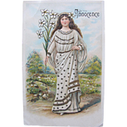 SALE Post Card Virtue Angel Innocence