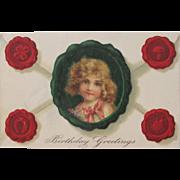 Post Card by Illustrator Frances Brundage Embossed Germany