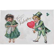 SALE Valentine's Post Card with Frances Brundage Children Nations Series