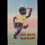SALE Vintage Post Card Black Americana Comical
