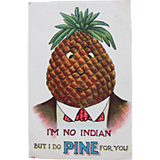 SALE Valentine's Day Post Card Unused Dressed Fruit Politically Incorrect