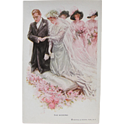 SALE Wedding Post Card by Harrison Fisher Rare and Perfect