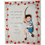 SALE Vintage Valentine's Day Card 1929 Great Condition
