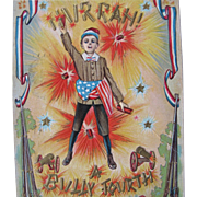 SALE Post Card for Fourth of July Patriotic Post for Liberty 1908