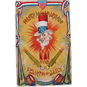 SALE PENDING Post Card for Fourth of July Patriotic Post for Liberty 1908