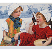 Unused Postcard in Pristine Condition with Dutch Girls Germany