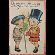 SALE Unused Postcard Humorous on Love and Marriage 1910