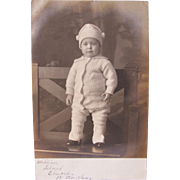 Post Card of Baby Picture William Elmore Black and White