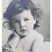 Tinted Post Card of Child Model Baby Girl Germany