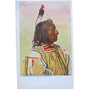 Post Card of Indian 1906 Chief Red Cloud Sioux Indian Unused