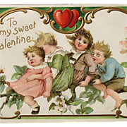 SOLD Valentine's Day Post Card Embossed Frances Brundage Illustrator Perfect
