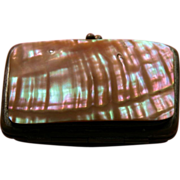 SALE Victorian Purse Mother of Pearl for Coins and Keys