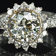 SALE 3 Carat Old European Cut Diamond Solitaire / 2..02 Center / CLEARANCE SALE!!!