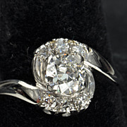 SALE 1.01 Old European Cut Diamond Wedding Ring