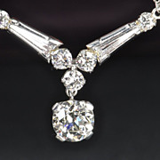 SALE 2.69 Carat Old European Cut Diamond  Necklace / CLEARANCE SALE!!!