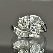 SALE 1.55 Carat Twin Diamond Ring