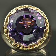 SALE Amethyst Cocktail Ring