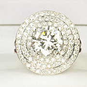 SALE 4.54 Carat Diamond Engagement Ring / 3.04 Center / EGL Certified / SALE !!!