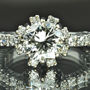 SALE 2.60 Diamond Engagement Ring / 1.88 Carat Center / CLEARANCE SALE!!