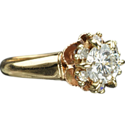 SALE .98 Carat Diamond Engagement / Wedding Ring / .80 Center