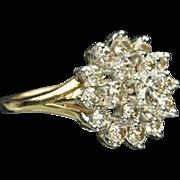 SALE 1.60 Carat Cluster Diamond Ring