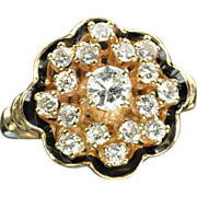 SALE 1.15 Carat Georgian Style Diamond Cluster Ring