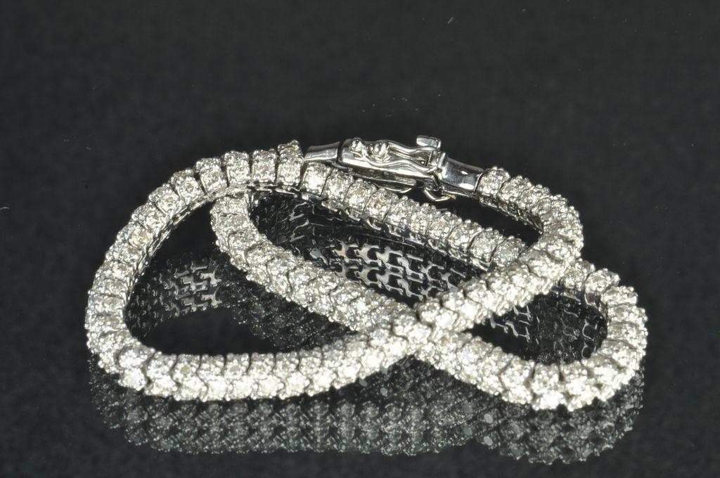 5 17 Carat Diamond Tennis Bracelet From Timelessantiques