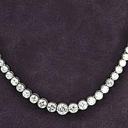 SALE 15 Carat Graduated Diamond Necklace