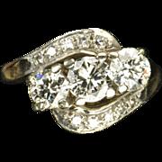 SALE 1.45 Carat Old European Cut Diamond Wedding Ring