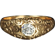 SALE Victorian Diamond Wedding Ring