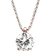 SALE .77 Carat Diamond Pendant