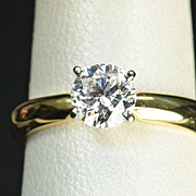 SALE .70 Carat Solitaire Diamond Engagement Ring / EGL Certified