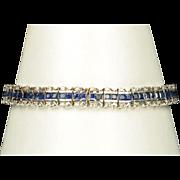 SALE 8.5 Carat Sapphire And Diamond Bracelet