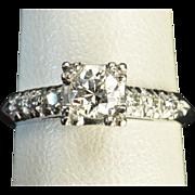 SALE Old European Cut Diamond Wedding / Engagement Ring