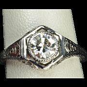 SALE .75 Carat Edwardian Style Engagement / Wedding Ring