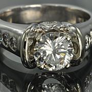 SALE 1.59 Carat Diamond Engagement Ring / 1.19 Center / CLEARANCE SALE!!
