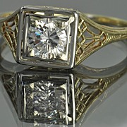 SALE .50 Carat Vintage Diamond Wedding Ring