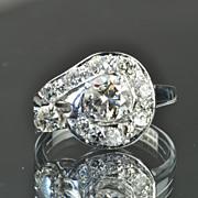 SALE 1.5 Carat Vintage Diamond Ring / .75 Carat Center / CLEARANCE SALE!