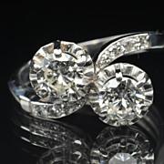 SALE 1.50 Carat Twin Diamond Wedding Ring / CLEARANCE SALE!!