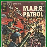 SALE 1966 M.A.R.S. Patrol Total War Comic, No. 3, Marked 50% Off