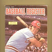 SALE 1974 Baseball Register, Pete Rose, Willie Stargell, Marked 50% Off