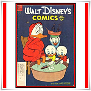 SALE 1954 Walt Disney's Comics and Stories Comic, No. 160, with LA Rams Tom Fears ...