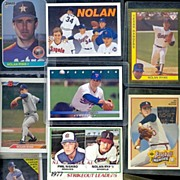 SALE Eleven Assorted Nolan Ryan Baseball Cards, Marked 50% Off