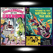 SOLD 1965 Challengers Of The Unknown Comic, No. 43, & 1968 Voyage To The Bottom Of The Sea, No