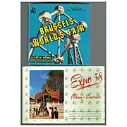 SALE 1958 Brussels World's Fair Castle 8mm Film & Expo 58 Souvenir Album, Marked 50% Off